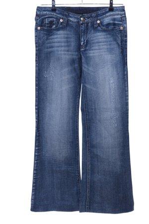 Blessed & Cursed Jeans flare bleu style décontracté