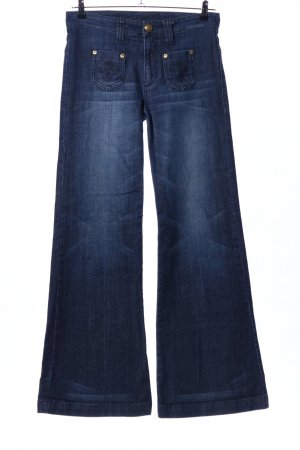 Blessed & Cursed Jeansschlaghose blau Casual-Look