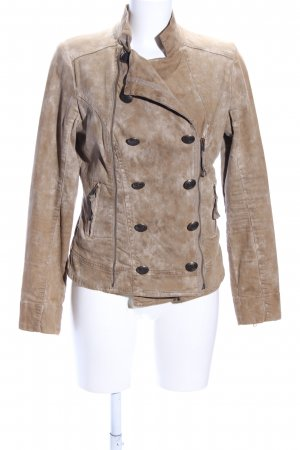 Blessed & Cursed Short Jacket brown-natural white color gradient casual look