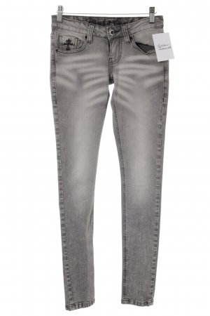Blessed & Cursed Skinny Jeans grau Washed-Optik