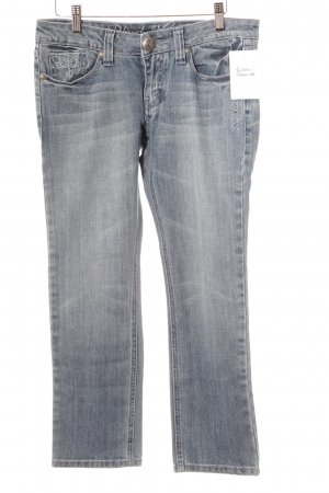 Blessed & Cursed Slim Jeans himmelblau Used-Optik