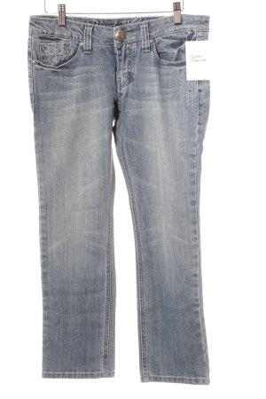 Blessed & Cursed Slim jeans azuur tweedehandse uitstraling