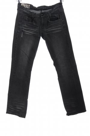 Blessed & Cursed Straight-Leg Jeans schwarz Casual-Look