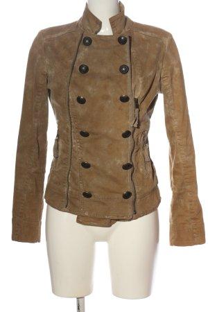 Blessed & Cursed Between-Seasons Jacket brown themed print casual look