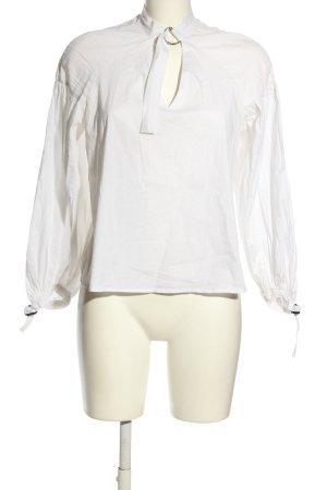 bleuh ciel Camicetta a maniche lunghe bianco stile casual