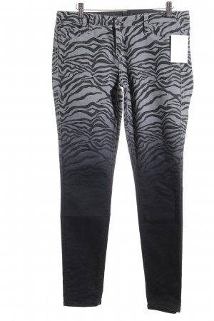BleuLab Slim Jeans grau-schwarz Animal-Look