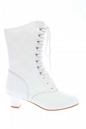 Bleyer Lace-up Boots white casual look