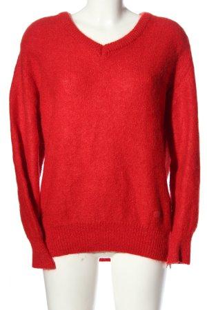 Bleyle Sweter z dekoltem w kształcie litery V czerwony W stylu casual
