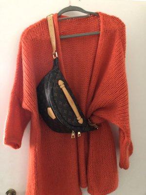 Sweter oversize pomarańczowy neonowy