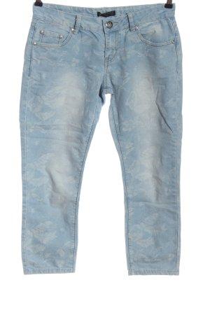 Blind Date 7/8 Jeans blau-weiß Allover-Druck Casual-Look