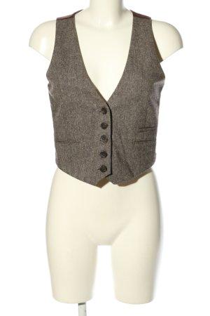 Blind Date Chaleco de vestir gris claro-marrón moteado estilo «business»