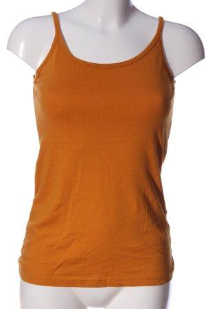 Blind Date Haut basique orange clair style décontracté