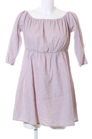 Blind Date Blusenkleid weiß-pink Streifenmuster Casual-Look