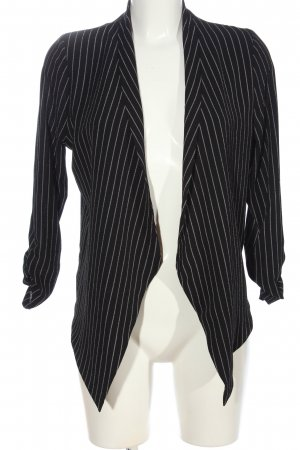Blind Date Kardigan czarny-w kolorze białej wełny Wzór w paski W stylu casual