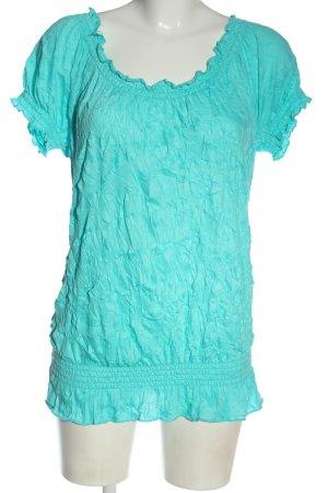 Blind Date Koszula typu carmen turkusowy Na całej powierzchni W stylu casual