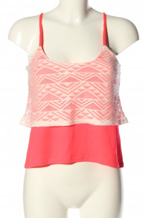 Blind Date Cropped top roze-wit casual uitstraling
