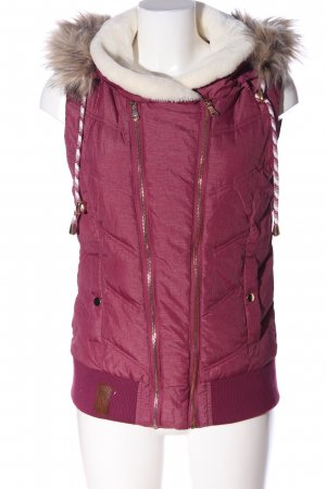 Blind Date Down Vest pink quilting pattern casual look