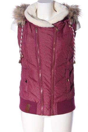Blind Date Piumino smanicato rosa motivo trapuntato stile casual