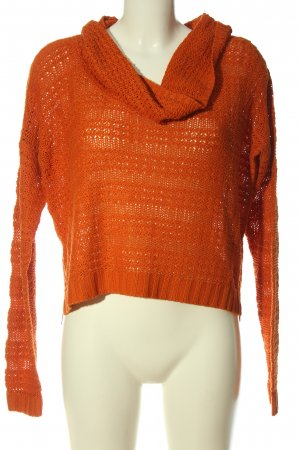 Blind Date Pullover all'uncinetto arancione chiaro stile casual