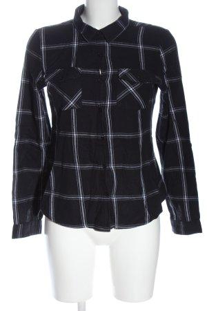 Blind Date Camicia blusa nero-bianco stampa integrale elegante