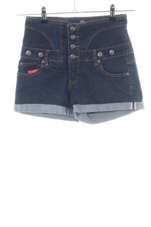 Blind Date High-Waist-Shorts blau Casual-Look