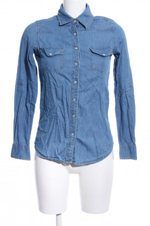Blind Date Blusa denim blu stile casual