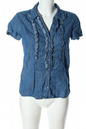 Blind Date Jeansbluse blau Casual-Look