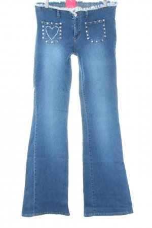 Blind Date Jeansschlaghose blau Party-Look