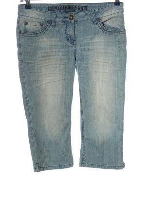 Blind Date Short en jean bleu style décontracté