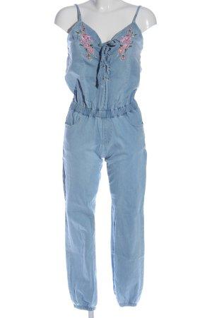 Blind Date Jumpsuit blau Blumenmuster Casual-Look