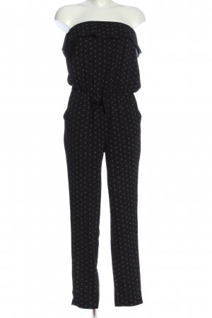Blind Date Jumpsuit black-white allover print casual look