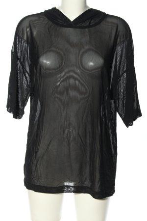 Blind Date Shirt met capuchon zwart extravagante stijl