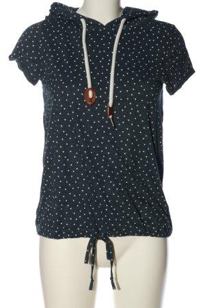 Blind Date Koszulka z kapturem niebieski-biały Na całej powierzchni