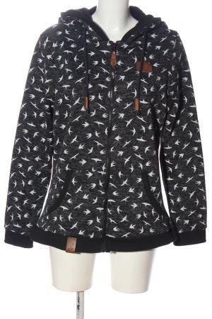 Blind Date Sweatshirt met capuchon lichtgrijs gestippeld casual uitstraling