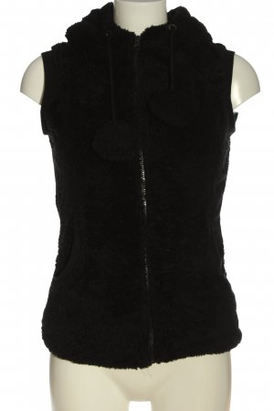 Blind Date Fake Fur Vest black casual look