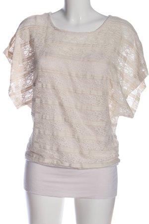 Blind Date Kurzarm-Bluse wollweiß-weiß Street-Fashion-Look