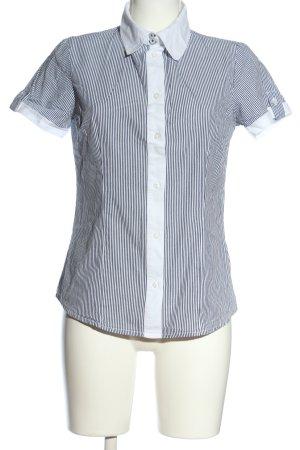 Blind Date Shirt met korte mouwen wit-zwart gestreept patroon zakelijke stijl