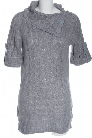 Blind Date Short Sleeve Sweater light grey flecked casual look