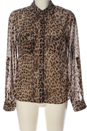 Blind Date Camicia a maniche lunghe Stampa leopardata stile casual