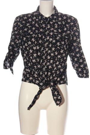 Blind Date Shirt met lange mouwen zwart-wolwit volledige print zakelijke stijl