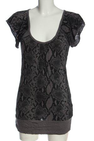Blind Date Camicia lunga grigio chiaro-nero stile casual