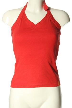 Blind Date Top senza maniche rosso stile casual