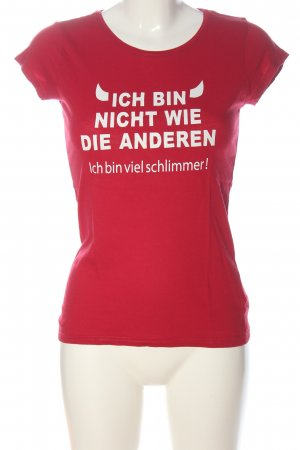 Blind Date Print-Shirt rot Schriftzug gedruckt Casual-Look