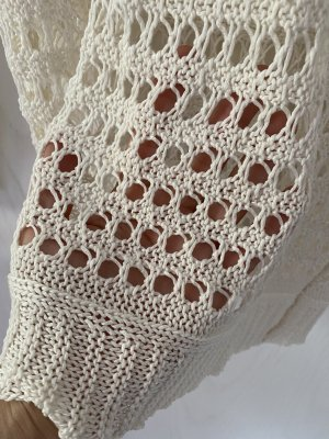 Blind Date Crochet Sweater natural white