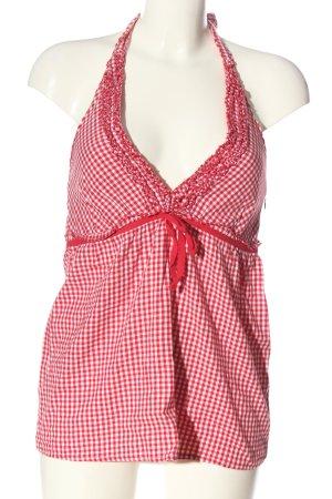 Blind Date Blusa sin espalda rojo-blanco look casual