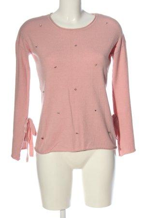 Blind Date Maglione girocollo rosa puntinato stile casual