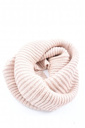 Blind Date Tube Scarf pink cable stitch casual look