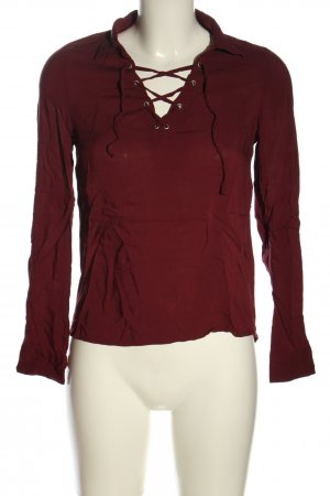 Blind Date Schlupf-Bluse rot Casual-Look