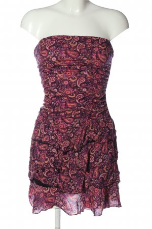 Blind Date Vestido strapless estampado con diseño abstracto look casual