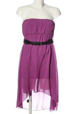 Blind Date schulterfreies Kleid lila Elegant